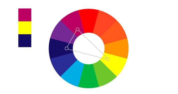 Colores complementarios divididos
